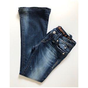 Rock Revival Sasha Flare Jeans Sz 25 Blue